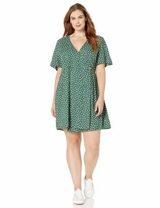 Volcom Women's Wrapsicle Short Sleeve Wrap Plus Size Dress