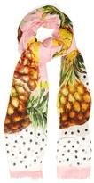 Dolce & Gabbana Polka-dot pineapple-print scarf
