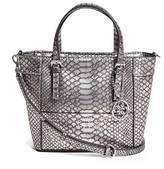 GUESS Delaney Python-Embossed Mini Tote