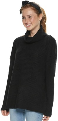 It's Our Time Its Our Time Juniors' Turtle Neck Textured Tunic