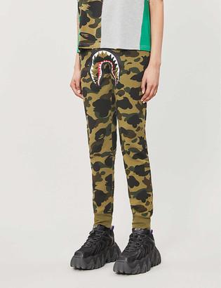 Bape Shark camouflage-print cotton jogging bottoms