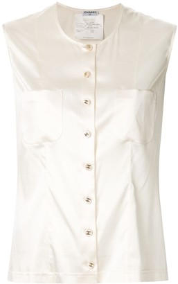 Chanel Pre Owned 1980s Sleeveless Tops