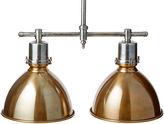 One Kings Lane Garrett Double Ceiling Light, Brass