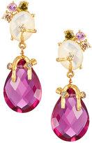 Indulgems Mother-of-Pearl & Pink Quartz Drop Earrings