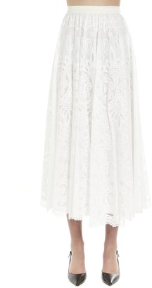 RED Valentino Flared Lace Skirt