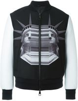 Neil Barrett statue print bomber jacket