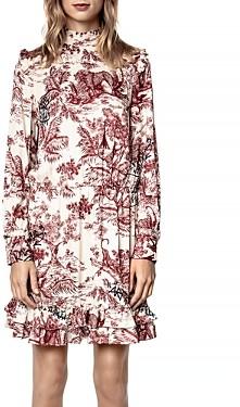 Zadig & Voltaire Rocket Printed Ruffled Dress
