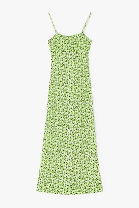 Nasty Gal Womens Cami for Love Floral Maxi Dress - Apple Green