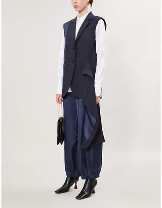 Monse Sleeveless wool-blend blazer
