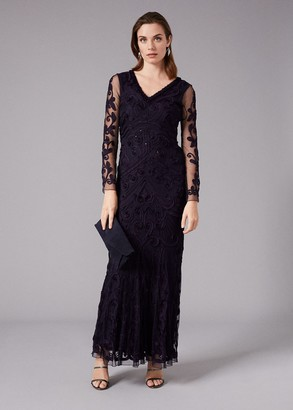 Phase Eight Seymour Tapework Lace Maxi Dress