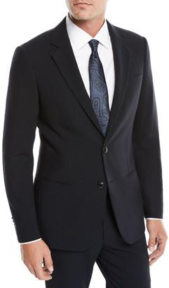 Giorgio Armani Men's Crepe Wool Two-Piece Suit, Navy