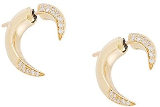 Shaun Leane 18kt gold small Talon diamond earrings