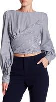 Do & Be Do + Be Stripe Back Open Back Tie Shirt