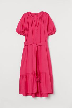 H&M H&M+ Tie-belt Dress - Pink