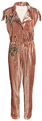Carolina Ritzler Sequin Moto Jumpsuit