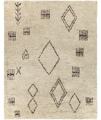 "Surya Camille Southwestern Hand Knotted Wool Cream Area Rug Rug Size: Rectangle 8'10"" x 12'"