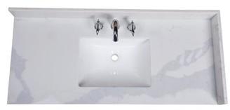 "Calcutta 49"" Single Bathroom Vanity Top Renaissance Vanity"