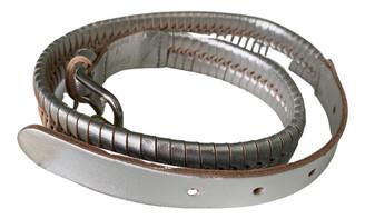 Temperley London Silver Leather Belts