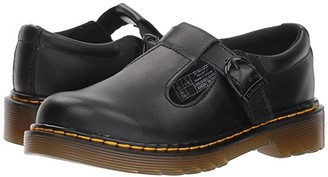 Dr. Martens Kid's Collection Polley Mary Jane (Little Kid/Big Kid) (Black T Lamper) Kid's Shoes