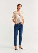 MANGO Buttoned stripped shirt beige - 2 - Women