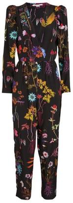 Stella McCartney Michelle Silk Floral Jumpsuit