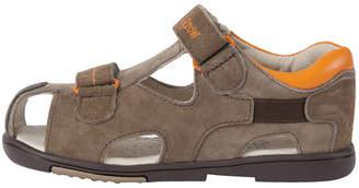 Momo Baby Boys' Toddler/Little Kid Double-Strap Orange Leather Sandal Shoe