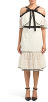 Criss Cross Bow Neck Lace Dress