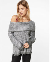 Express Dolman Cowl Neck Shaker Pullover