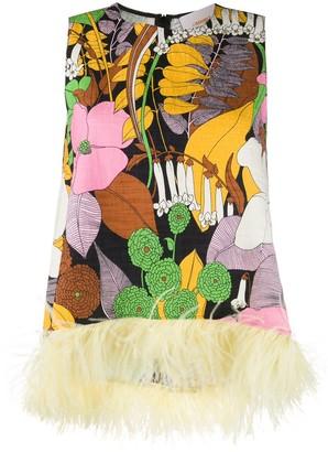 La DoubleJ La Scala feather-embellished vest