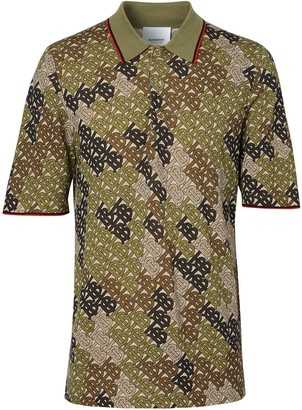 Burberry camouflage monogram polo shirt