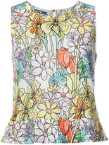 Moschino paint by number print blouse - women - Cotton - 40