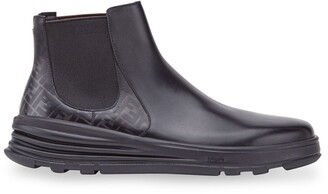 Fendi printed FF logo ankle boots