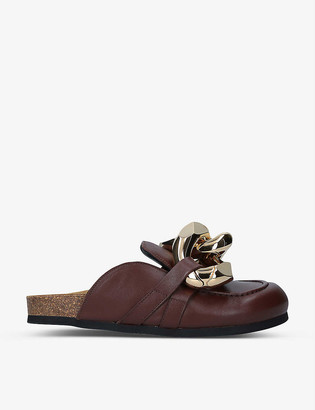 J.W.Anderson Chain-embellished leather loafers