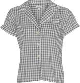 Gingham Cropped Pajama Top