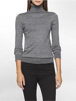 Calvin Klein Womens Marled Turtleneck Sweater
