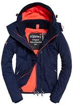 Superdry Womens Pop Zip Hooded Arctic SD-Windcheater Jacket Blue