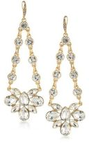 ABS by Allen Schwartz Crystal Chandelier Earrings
