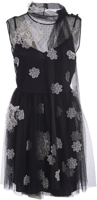 RED Valentino Sleeveless Lace Floral Dress