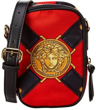 Versace Medusa Head Nylon & Leather Crossbody