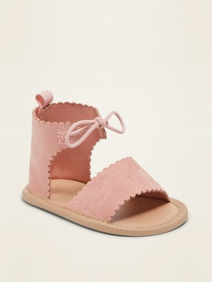 Old Navy Faux-Suede Scallop-Edge Gladiator Sandals for Baby