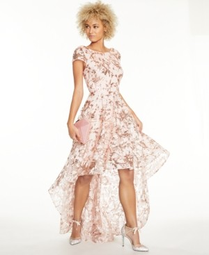 Brinker & Eliza Sequined High-Low Gown