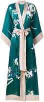 Carine Gilson long floral kimono