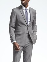 Banana Republic Standard Gray Houndstooth Wool Suit Jacket