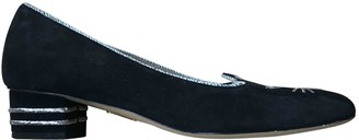Charlotte Olympia Kitty Black Suede Ballet flats