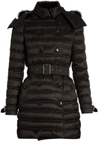Burberry Chesterford fur-trimmed padded coat