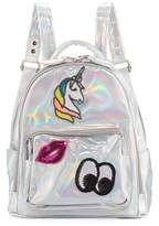 Bari Lynn Kids' Hologram Backpack w/ Patches
