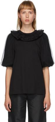 Simone Rocha Black Puff Sleeve T-Shirt
