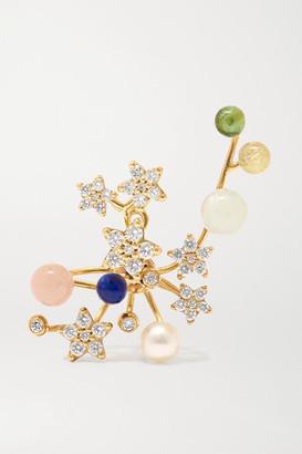 OLE LYNGGAARD COPENHAGEN Shooting Stars 18-karat Gold Multi-stone Earring - L