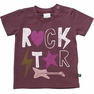 Green Cotton Fred's World by Baby Girls' Star Rock S/s T Shirt