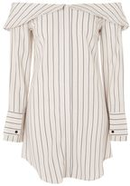 Topshop Stripe bardot shirt dress